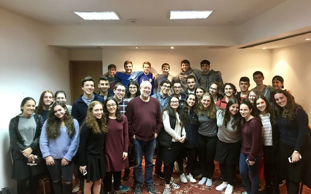 Halevi and the Write On For Israel 2018 cohort in Israel.