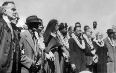 Rev. Martin Luther King Jr., other civil rights leaders and clergy, including Rabbi Abraham Joshua Heschel, second from right, during a civil rights march. Getty Images