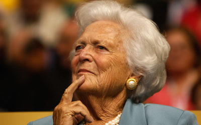 Barbara Bush at the Republican National Convention in St. Paul, Minn., Sept. 2, 2008. (Scott Olson/Getty Images)