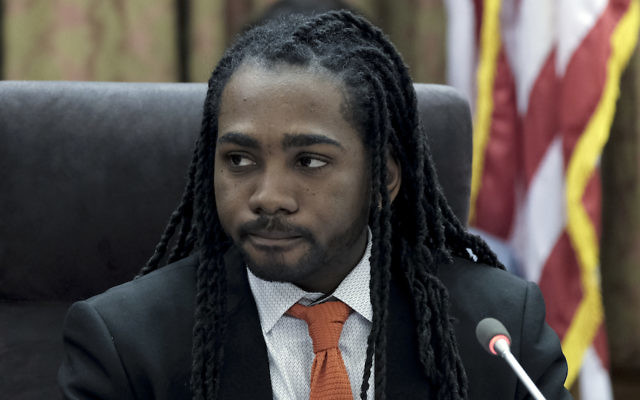 Trayon White Sr. at a meeting of the D.C. Council in Washington, March 20, 2018. (Bonnie Jo Mount/The Washington Post via Getty Images)
