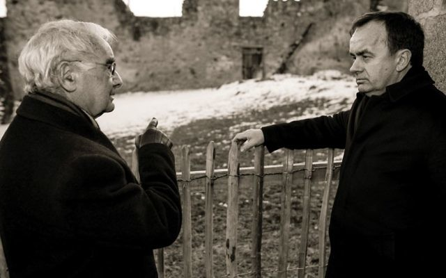 Father Patrick Desbois with Robert Hébras, who survived the 1944 massacre in the village of Oradour-sur-Glane in Nazi-occupied France.  Denis Adam de Villiers