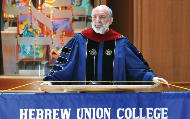 Rabbi David Ellenson, former president of HUC-JIR, will serve as interim president until a permanent successor to Rabbi Aaron Panken is named by the end of this year. Courtesy of HUC