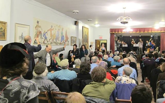 The scene at the Sholem Aleichem Cultural Center in the Norwood section of the Bronx during Klezfest 2015. Courtesy of Itzik Gottesman