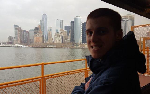 The author's son on the Staten Island Ferry. Courtesy of Nina Moglinik