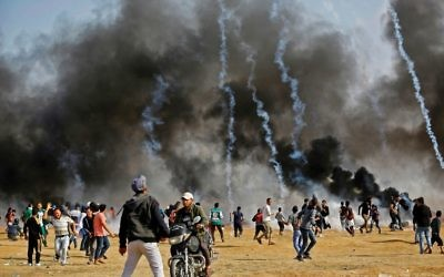 "The clashes at the Gaza border are expected to intensify as May 15, what Palestinians refer to as the ""Nakba,"" nears. The day coincides with Israel's independence. Getty Images"