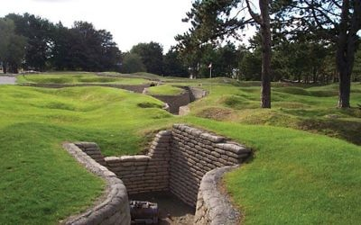 Trenches at the Canadian National Vimy Memorial in Vimy, France. Photo by Wikimedia Commons