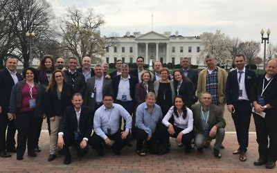 American Politics 101: A Gesher leadership training group in front of the White House. Photos courtesy of Gesher