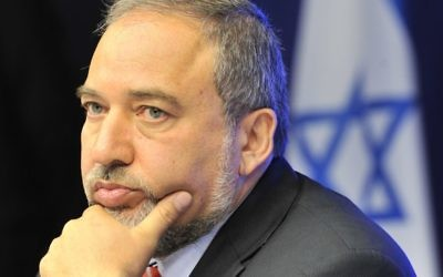 "Yisrael Beiteinu leader Avigdor Lieberman, who emerged as the kingmaker in Tuesday's election is urging a ""broad government."" Getty Images."