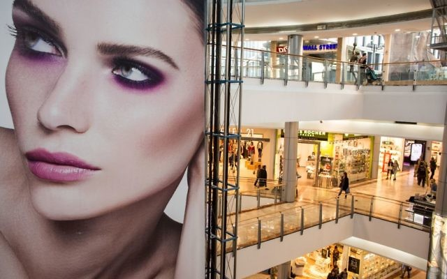 A mall in Tel Aviv that features many US brands. These mega malls are just one sign of the American cultural footprint in Israel. But is the connection deeper than that? Getty Images