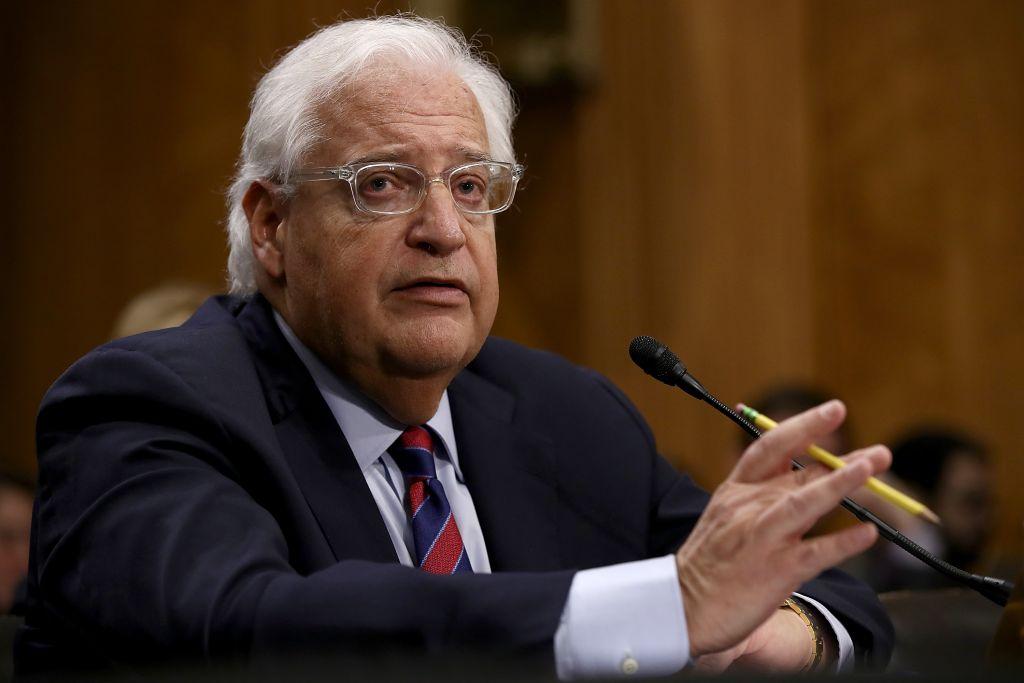 David Friedman, the U.S. ambassador to Israel. Getty Images.