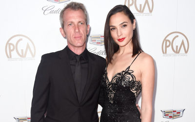 Gal Gadot and husband Yaron Versano at the Producers Guild Awards in Beverly Hills, Calif., Jan. 20, 2018. (Frazer Harrison/Getty Images)