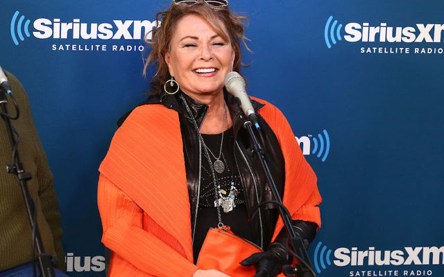 Roseanne Barr at a SiriusXM Town Hall interview in New York, March 27, 2018. (Astrid Stawiarz/Getty Images for SiriusXM)