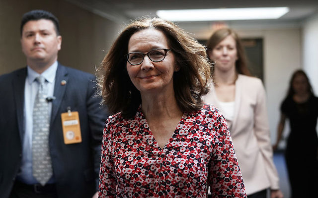 Gina Haspel visiting the Hart Senate Office Building for meetings with senators on Capitol Hill, May 7, 2018. (Alex Wong/Getty Images)