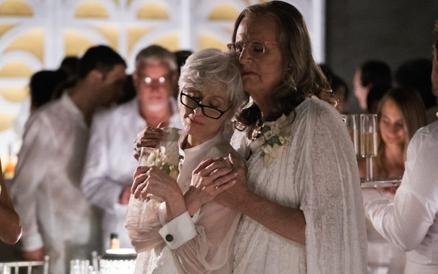 """Jeffrey Tambor, right, with Judith Light in the second season of """"Transparent."""" (Courtesy of Amazon Studios)"""