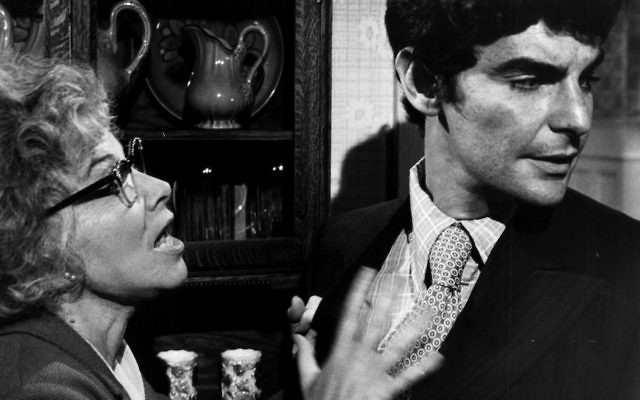 "Richard Benjamin, right, as Alexander Portnoy in a 1972 film adaptation of ""Portnoy's Complaint."" Lee Grant, on left, played Portnoy's mother. JTA"