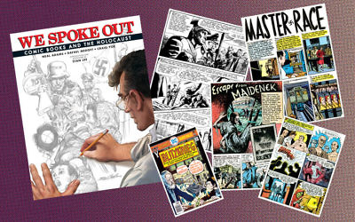 """We Spoke Out: Comic Books and the Holocaust"" features 18 comics that dealt with the Holocaust. (IDW Publishing/Yoe Books, JTA Collage)"