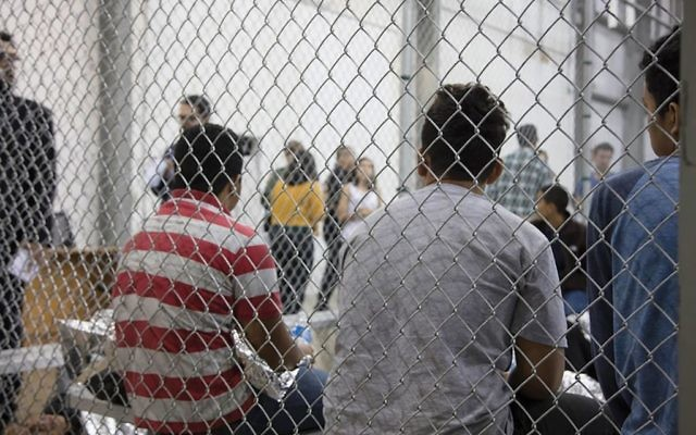 Immigrants apprehended by Border Patrol on June 17 seen at the Central Processing Center in McAllen, Texas. U.S. Customs and Border Protection via Getty Images