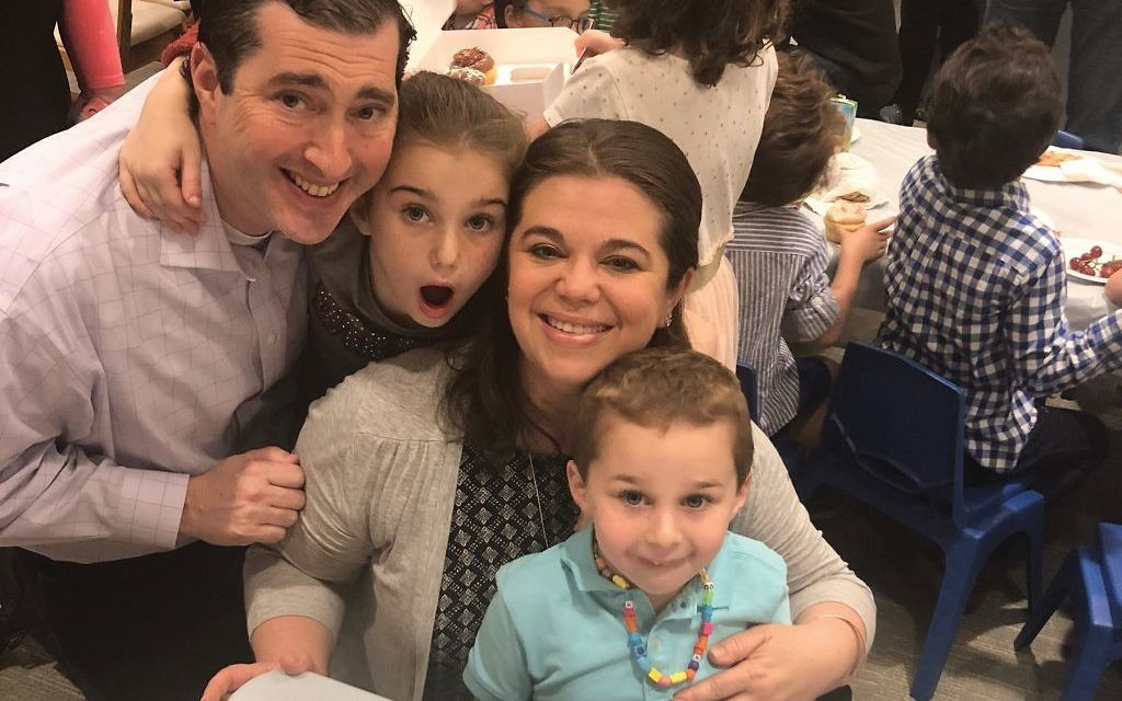 The Kaufman family — from left, Alan, Arielle, Danielle and Avi — are part of the younger generation of members that is revitalizing Congregation Habonim on the Upper West Side. courtesy of the Kaufman Family