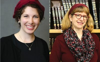 "Maharats-to-be Leah Sarna, left, and Claudia Marbach: ""I'm sorry there are naysayers but that won't stop me from teaching Torah and learning Torah."" Yeshivat Maharat"