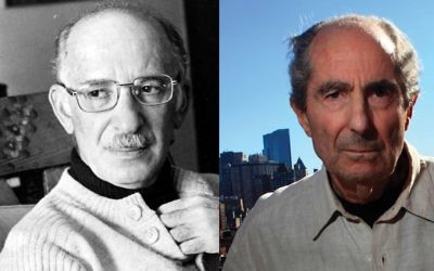 "In a little-known literary quarrel Philip Roth, right, took aim at Bernard Malamud's Jewish protagonist in ""The Assistant."" Photos by Wikimedia Commons"