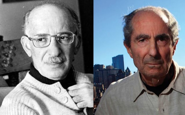 """In a little-known literary quarrel Philip Roth, right, took aim at Bernard Malamud's Jewish protagonist in """"The Assistant."""" Photos by Wikimedia Commons"""