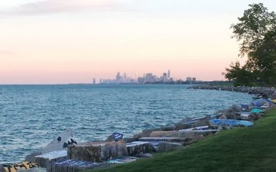 The view from campus, looking out onto Lake Michigan and the city of Chicago. Amanda Gordon.