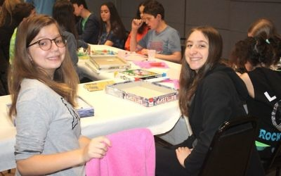 The scene at the recent Teen Saturday Night Social. Courtesy of JCC Mid-Westchester