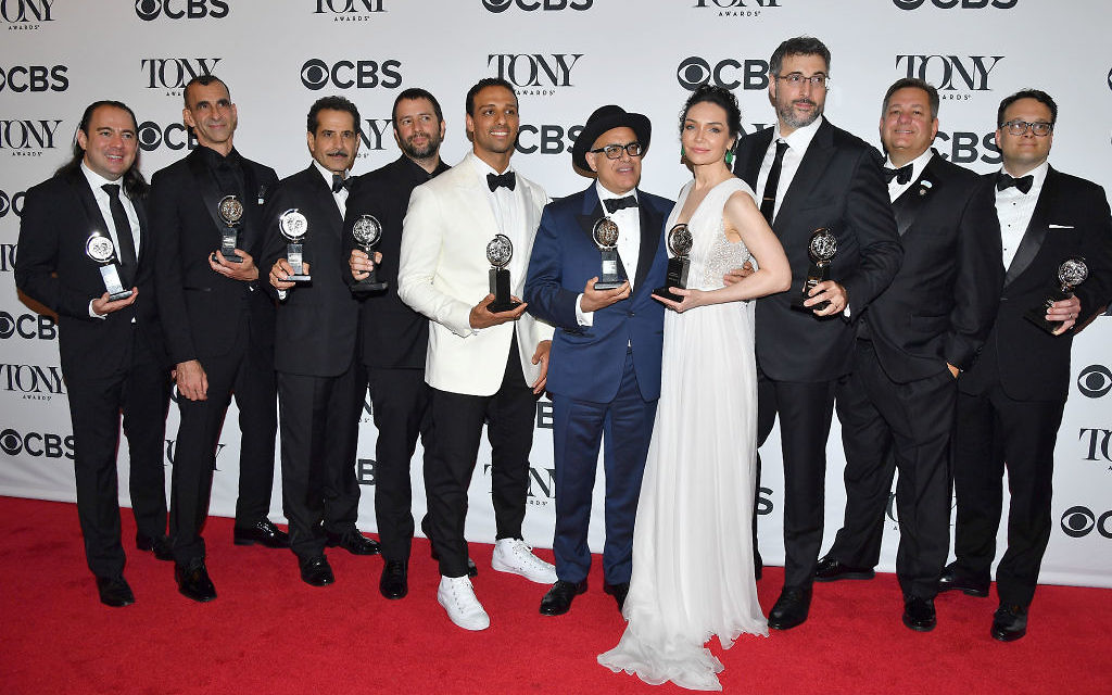 Cast and creative team of 'The Band's Visit' pose in the 72nd Annual Tony Awards Media Room at 3 West Club in New York City on June 10, 2018. Getty Images