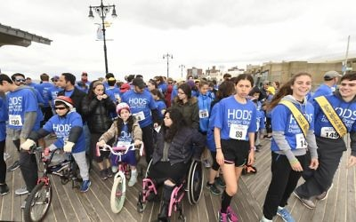 The start of a recent race to raise money for HODS.