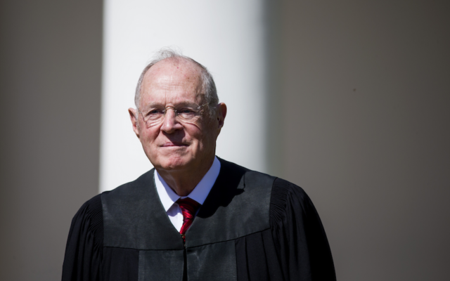 Supreme Court Justice Anthony Kennedy is seen during a ceremony at the White House, April 10, 2017. (Eric Thayer/Getty Images)