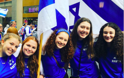 Israeli Day Parade 2018. Courtesy of Molly Feder (left).
