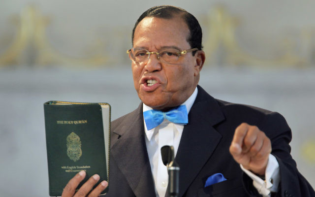 Louis Farrakhan speaking at a news conference at the Mosque Maryam in Chicago, March 31, 2011. (Scott Olson/Getty Images)