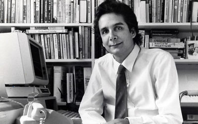 Charles Krauthammer in his office in Washington, D.C., March 16, 1985. (Ray Lustig/The Washington Post via Getty Images)