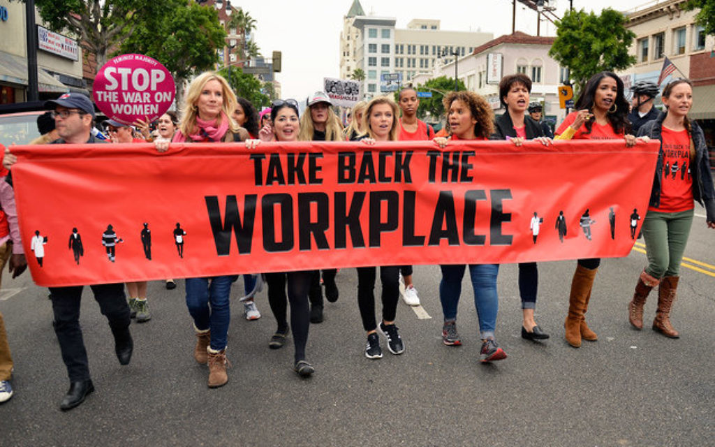 Take Back The Workplace March on Nov. 12, 2017 in Hollywood, Calif. Via Getty Images.