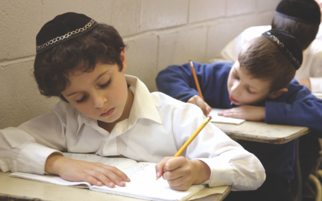 Illustrative photo of students at a New York City yeshiva.