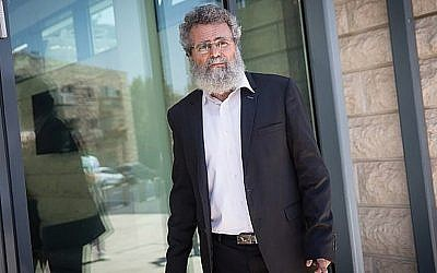 Rabbi Dov Haiyun in Jerusalem last week. He was arrested for performing a non-Orthodox wedding. JTA