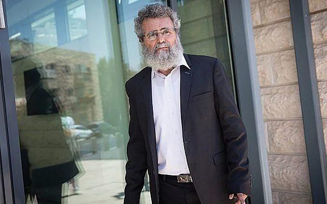 Rabbi Dov Haiyun in Jerusalem last week. He was arrested for performing a non-Orthodox wedding. JTA