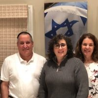 Kehillat Ahavat Yisrael founder Shlomit Metz-Poolat, center, with the synagogue's board members. Courtesy of Kehillat Ahavat Yisrael