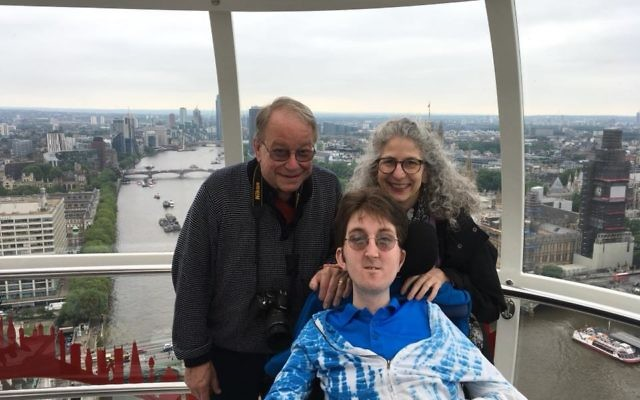 The author, her husband and son Alex in London. Courtesy of Susan Sklaroff-Van Hook