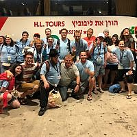 The author with a Birthright group in Israel. Courtesy of Oz Isseroff