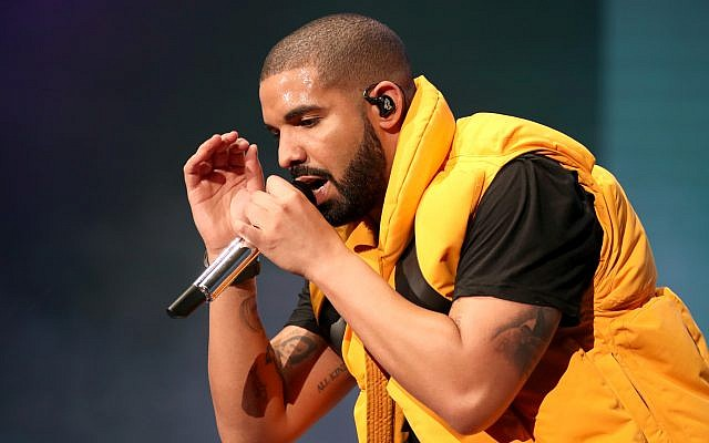 Drake performing at the Coachella Valley Music And Arts Festival. Getty Images.