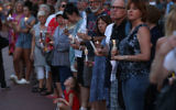 People line up on both sides of Main St. during a candlelight vigil to honor the 5 people were shot and killed at the Capital Gazette newpaper yesterday, on June 29, 2018 in Annapolis, Maryland. Getty Images