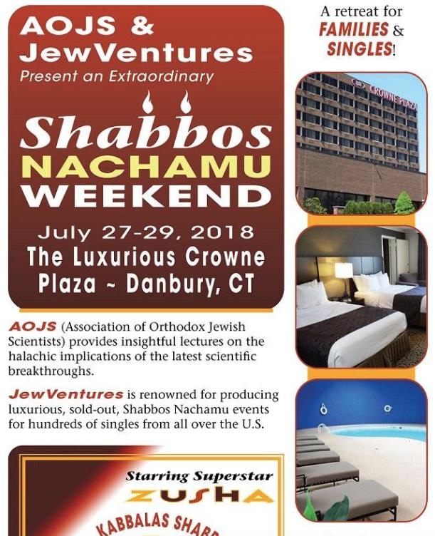 Shabbos Nachamu Weekend | Jewish Week