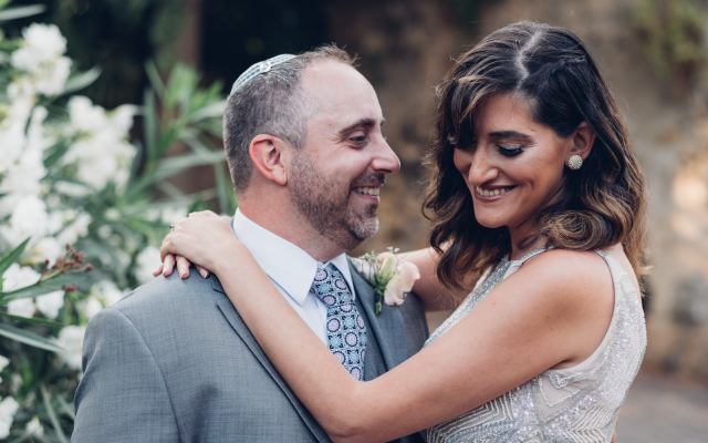 Noa and David were married on May 29, 2018 in Jaffa, Israel. Courtesy of Jonny Finkel