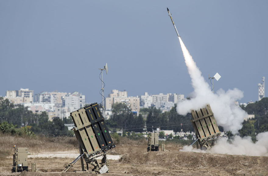Image result for Iron Dome air defense system, firing, photos