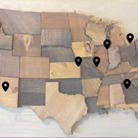 Map of cities scholars will be visiting this summer / courtesy of JOFA