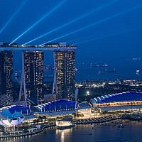 A view of the Marina Bay Sands hotel in Singapore, June 8, 2018. (Chris McGrath/Getty Images)