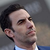 Sacha Baron Cohen at the El Capitan Theatre in Hollywood, Calif., May 23, 2016. JTA