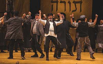 "More than 30,000 people have already seen the Folksbiene's Yiddish ""Fiddler."" Victor Nechay/ProperPix"
