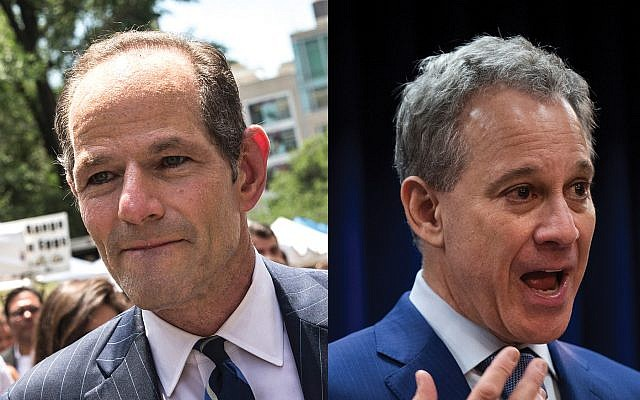 """Ex-Attorneys General Eliot Spitzer and Eric Schneiderman: """"Ethical lapses"""" brought them down. Photos by Getty Images"""